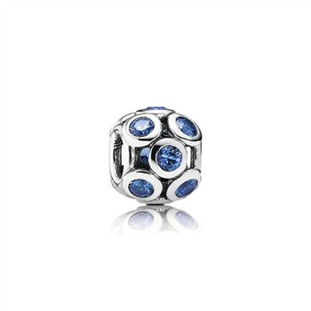 Bedazzled Blue Openwork Silver Charm - PANDORA 791153NSB