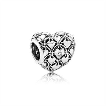 Club Charm 2016, PANDORA Club 2016 silver charm, 0.01ct TW h/vs diamond 791912D